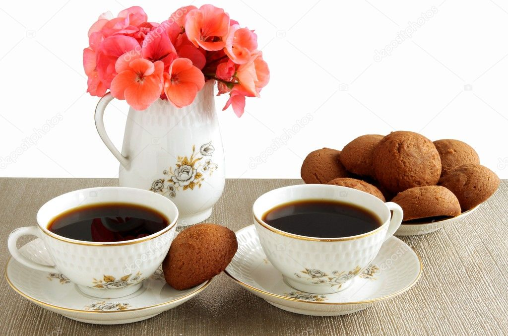Coffee and brown cacao cakes — Stock Photo #7363632