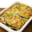 "Stock Photo: Aubergine,vegetable,grinded meat and sauce ""au gratin"""