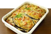 "Aubergine,vegetable,grinded meat and sauce ""au gratin"" — Stock Photo"
