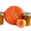 Pumpkin,apples and preserves — Stock Photo #7472832