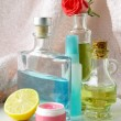 Cosmetics in bathroom — Stockfoto #7504186