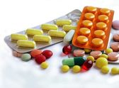 Various multicolo medicines — Stock Photo