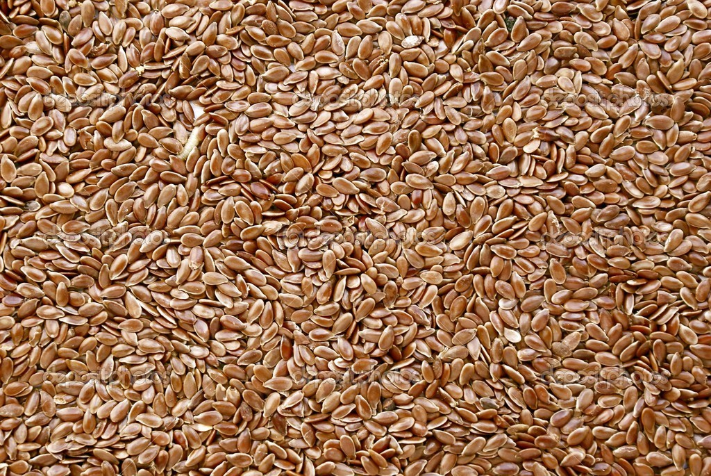 Seeds of flax as natural medicine or condiment — Stock Photo #7501830