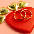 Stock Photo: Symbols of love,marriage and kindness