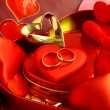 Stock Photo: Jewellery and red hearts