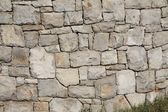 Limestone wall built without any mortar — Stock Photo
