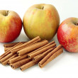Stock Photo: Cinnamon stick as condiment for apples