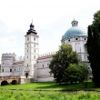 View of Krasiczyn Castle in Poland - Stock Photo