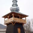 Decorative wooden belfry of ortodox church in Brest near Krynica — Stock Photo