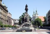The Grunwald monument on Matejko's square in Krakow — ストック写真