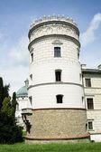 Tower of castle in Krasiczyn — Stock Photo