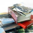 Retro photo albums and old analog images — Stock Photo