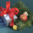 Stock Photo: Christmastime and gifts