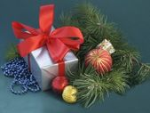 Christmastime and gifts — Stock Photo