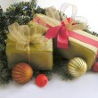Stock Photo: Christmastime and traditional gifts