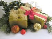 Christmastime and traditional gifts — Stock Photo