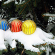 Stock Photo: Multicolor Christmastime ornaments