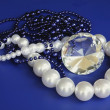 Pearl,diamond and other necklaces — Stock Photo