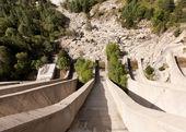 Dam liberation water slide — Stock Photo