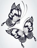 Tropical butterfly are isolated on a white background. — Stock Photo