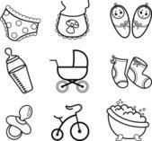 Newborn baby icons — Stock Photo