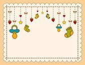 Newborn baby greeting card — Stock Photo