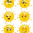 Stock Photo: Set of sun mimic miens