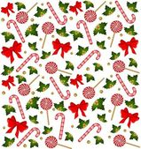 Christmas candy cane decorated bow — Stock Photo