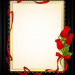 Beautiful frame from roses on the black — Stock Photo