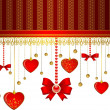 Beautiful background with lace ornaments and hearts — Stock Photo #7290009