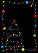 Guirnalda de navidad y marco de holly — Foto de Stock