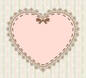 Beautiful background with lace ornaments and hearts — Stock Photo