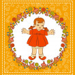 Vintage cartoon little child - Photo