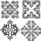 Snowflake winter background — Stock Photo
