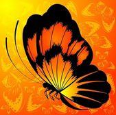 熱帯の蝶 — ストックベクタ