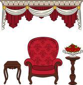 Vintage furniture — Stock Vector