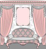 Vintage interior — Stock Vector
