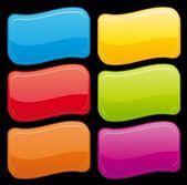 Botones brillantes hermosos — Vector de stock