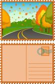 The landscape with road — Stock Vector