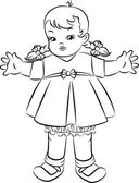 Ročník karikatura malé dítě — Stock vektor
