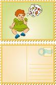 Vintage cartoon little child — Stock Vector