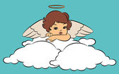 Vintage cartoon little angel — Stockvector