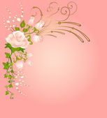 Beautiful bouquet from roses — Stock Vector