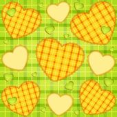 Hearts on the background — Stock Vector