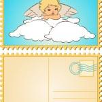 mooie baby engel met vleugels — Stockfoto