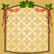 Vintage Christmas tapestry background. - Stock Photo