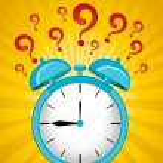 Classic alarm clock on background — Stock Vector