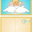 Stock Vector: Beautiful baby angel with wings.