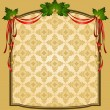 Vintage Christmas tapestry background. — Stock Vector