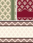 Vintage tapestry background. Vector — Vector de stock